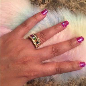 Vintage Rainbow Ring Size 5